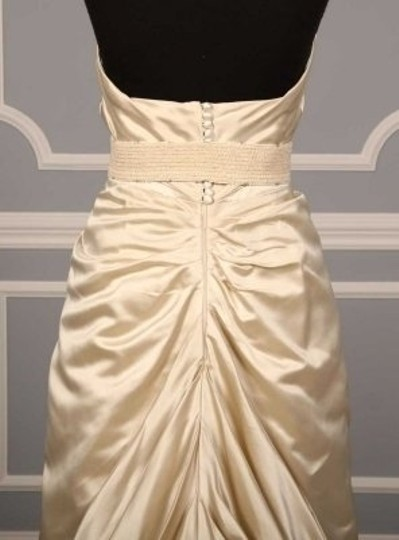 Monique Lhuillier Ivory Crystal Embellished Sash