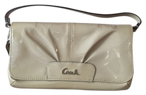 Coach Patent Leather Purse Wristlet in brown