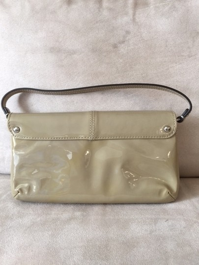 Coach Patent Leather Wristlet in brown