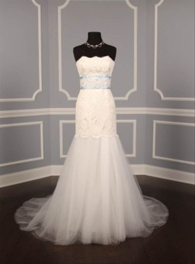 Your Dream Dress Exclusive B526 Beaded Lace Light Blue Satin Sash