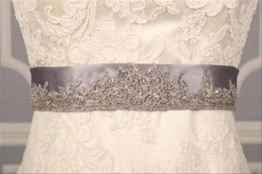 Silver Your Dream Dress Exclusive B522 Embroidered Satin Sash Sashes