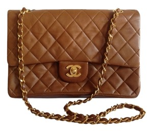 Chanel Quilted Quilted Leather Flap Gold Shoulder Bag