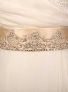 Your Dream Dress Exclusive B502 Champagne Embellished Bridal Sash