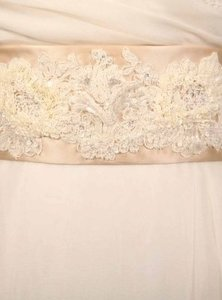 Your Dream Dress Exclusive Beaded Alencon Lace Champagne B512 Satin Sash