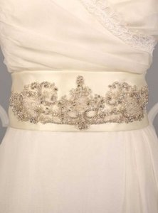 Your Dream Dress Exclusive B510 Ivory Embellished Bridal Sash