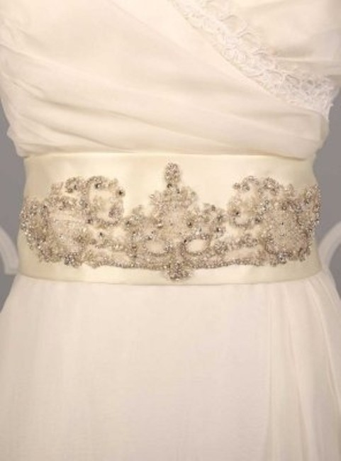 Ivory Your Dream Dress Exclusive B510 Embellished Sash Ivory Your Dream Dress Exclusive B510 Embellished Sash Image 1