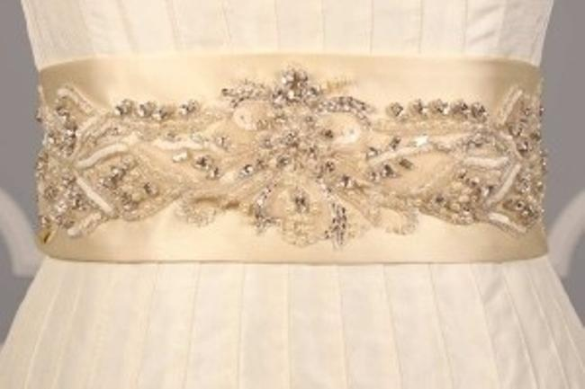 Ivory Your Dream Dress Exclusive Crystal Beaded B533 Satin Sash Ivory Your Dream Dress Exclusive Crystal Beaded B533 Satin Sash Image 1