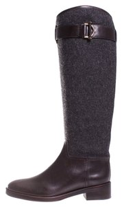 Tory Burch Grace Equestrian Gray Boots