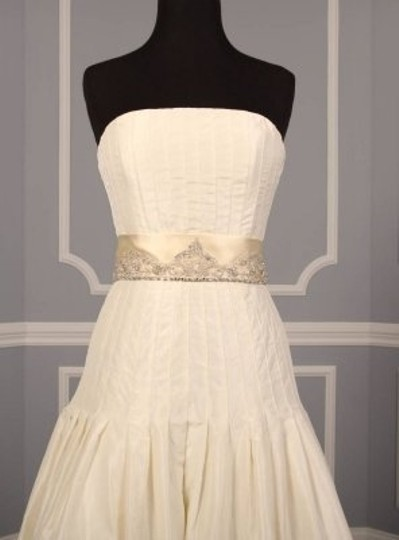 Cream Your Dress Exclusive Crystal Beaded B500 Satin Sash