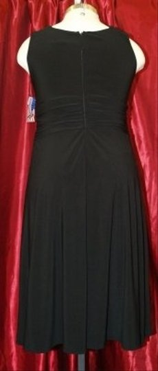 Black Other Short Modern Bridesmaid/Mob Dress Size 16 (XL, Plus 0x)
