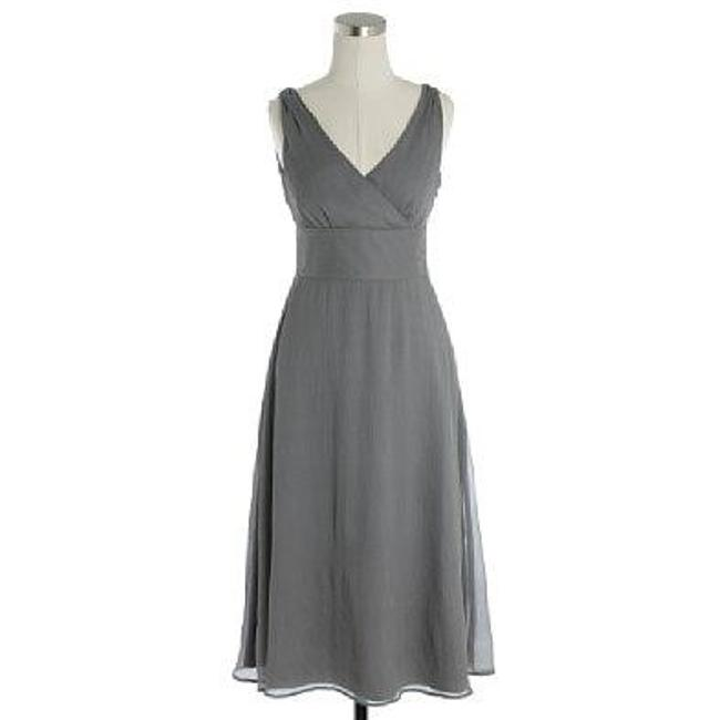 Item - Grey Silk Sophia Bridesmaid/Mob Dress Size 14 (L)
