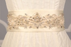 Your Dream Dress Exclusive Crystal Beaded Ivory B532 Satin Sash