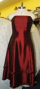 Jordan Fashions Wine Jordan Fashions Short Dress Size 14 #429 Wine Formal Dress Plus Size 14 Strapless Homecoming Prom Bridesmaids A Line Dress
