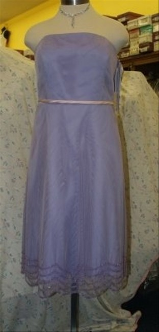 Forever Yours International Purple Tulle Netting T-length Lilac/Pink #76116 Lilac Lavender Pink Belt Strapless Beaded Formal Bridesmaid/Mob Dress Size 16 (XL, Plus 0x) Forever Yours International Purple Tulle Netting T-length Lilac/Pink #76116 Lilac Lavender Pink Belt Strapless Beaded Formal Bridesmaid/Mob Dress Size 16 (XL, Plus 0x) Image 1