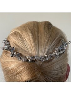 Fenaroli For Regalia Silver Clear Swarovski M568 Headpiece Tiara Hair Accessory