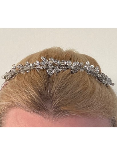 Fenaroli For Regalia Silver Clear Swarovski M568 Headpiece Tiara Hair Accessory Image 1
