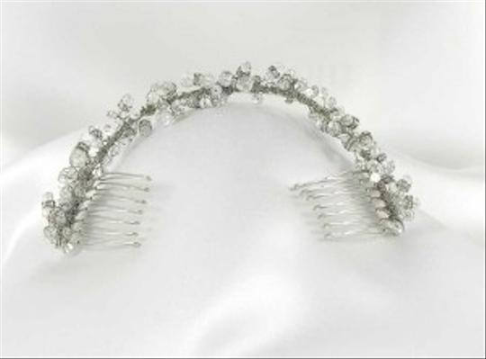 Fenaroli For Regalia Silver Clear Swarovski M568 Headpiece Tiara Hair Accessory Image 3
