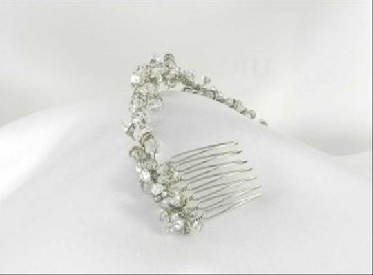 Fenaroli For Regalia Silver Clear Swarovski M568 Headpiece Tiara Hair Accessory Image 4
