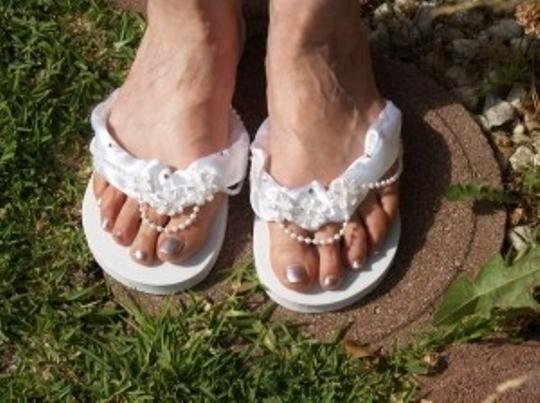 White Sandals Size US 7