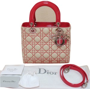 Dior Lady Clutch Tote in Beige and Light Red (see pictures) 37e50bc0c5665