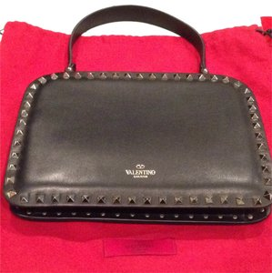 Valentino Rock Stud Studded Satchel in Black