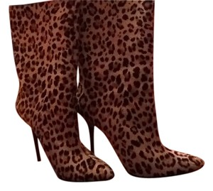 Jimmy Choo Heels Stiletto Hair Leopard Print Pony Boots