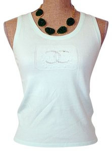 Chanel Cami Vest Top Mint Green