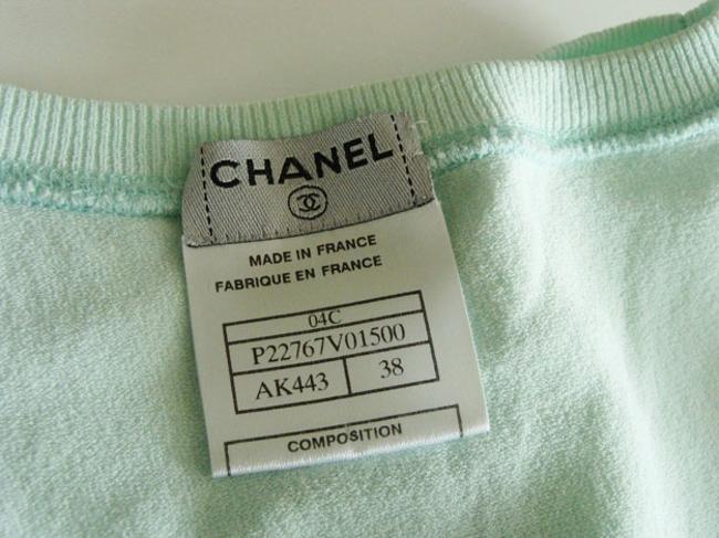 Chanel Vest Top Mint Green