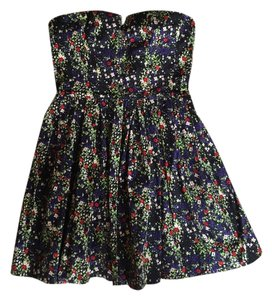 bebe short dress Black & Floral on Tradesy