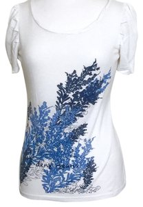 DKNY Donna Karan Casual Wear T Shirt Blue/White