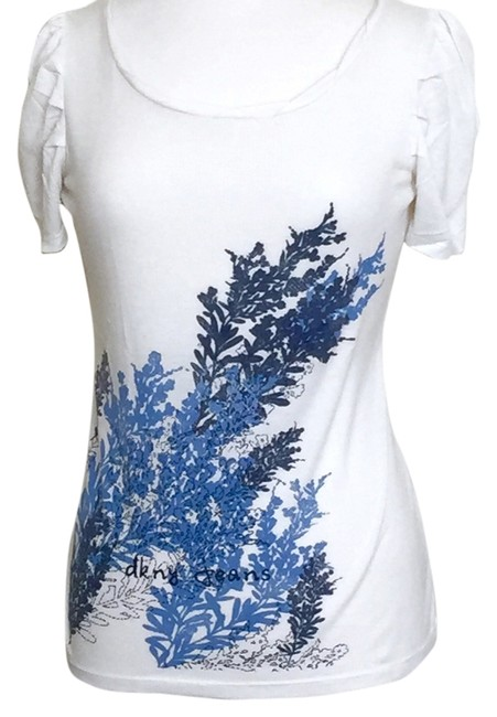 DKNY Donna Karan Casual Wear Jeans Wear Blouse T Shirt Blue/White