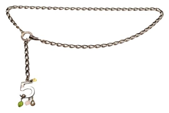 Chanel CHANEL Silver No 5 Charm Chain Link Belt