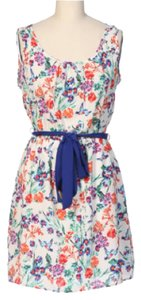 Hello Miss short dress Ivery and purple floral on Tradesy