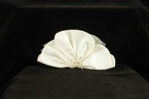 Jennifer Leigh Couture Veils and Accessories Ivory with Silk Faille Tulle Ivory Pearls Ginger Hairclip Hair Accessory