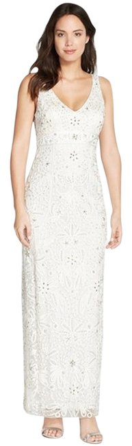 Sue Wong Sleeveless V-neck Lace Gown Dress