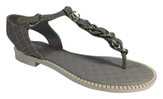 Preload https://item4.tradesy.com/images/chanel-gray-ankle-trap-sandals-size-us-55-regular-m-b-4785628-0-3.jpg?width=440&height=440