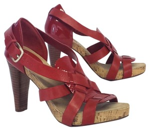 Cole Haan Leather Cork Heels Sandals
