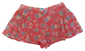 Free People Mini/Short Shorts Coral Floral