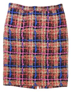 J.Crew Print Silk Pencil Skirt