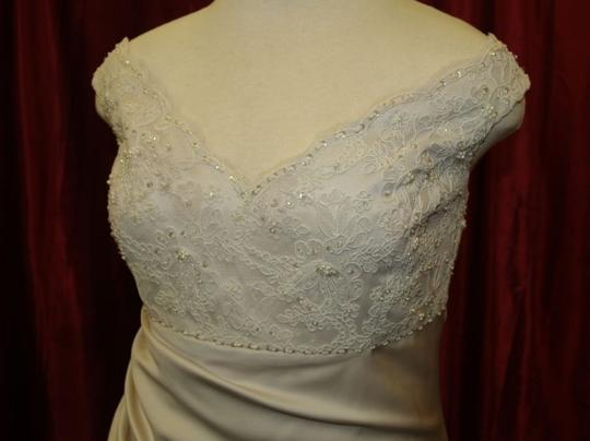 Champagne Satin Long Bridal Gown Pearl Color #4007 Traditional Dress Size 16 (XL, Plus 0x)