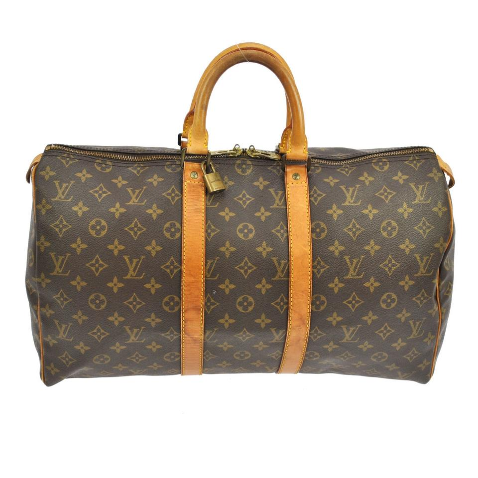 louis vuitton keepall 45 louis vuitton weekend travel bags tradesy. Black Bedroom Furniture Sets. Home Design Ideas