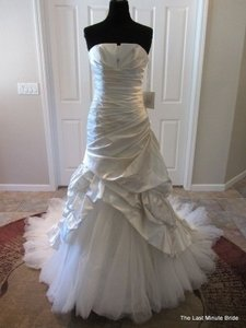 Pronovias Ivory Satin Megan Feminine Wedding Dress Size Other