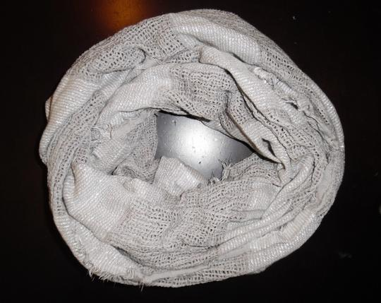 BP. Clothing BP Brand Gray Silver Sparkly Woven Striped Boho Infinity Scarf