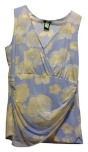 INC International Concepts Top Light blue/yellow