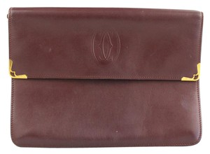 Cartier Must De Vintage Bordeaux Clutch