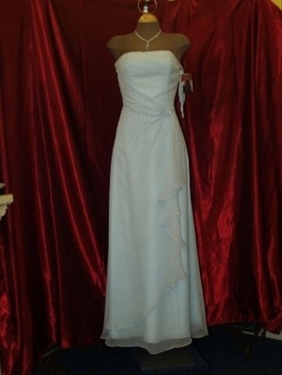 Jordan Fashions Light Blue Chiffon New 803 Xxs Strapless Prom Pageant Formal Bridesmaid/Mob Dress Size 0 (XS)