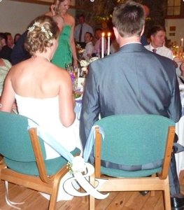 Green Bride and Groom Ampersand (&) Reception Decoration