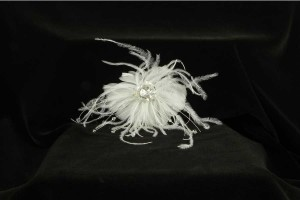 Your Dream Dress Exclusive Sfl819 Ivory Real Feather Hair Comb