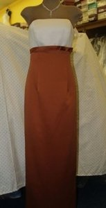 Other Satin Jordan Pearl/Copper #880 Formal Bridesmaid/Mob Dress Size 4 (S)