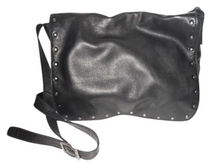 J. Jill Leather Studded Hobo Cross Body Bag